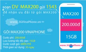 Cách đăng ký gói MAX200 Vinaphone nhận 15 GB data chỉ 200.000đ