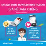 Các gói cước 4G vinaphone cho thuê bao trả sau giá rẻ 2018