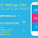 Đăng ký gói MAX70 Vinaphone