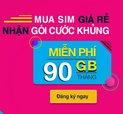 mua sim giá rẻ ưu đãi 90GB data
