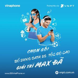 Hướng dẫn cách mua thêm dung lượng 3G Vinaphone tốc độ cao