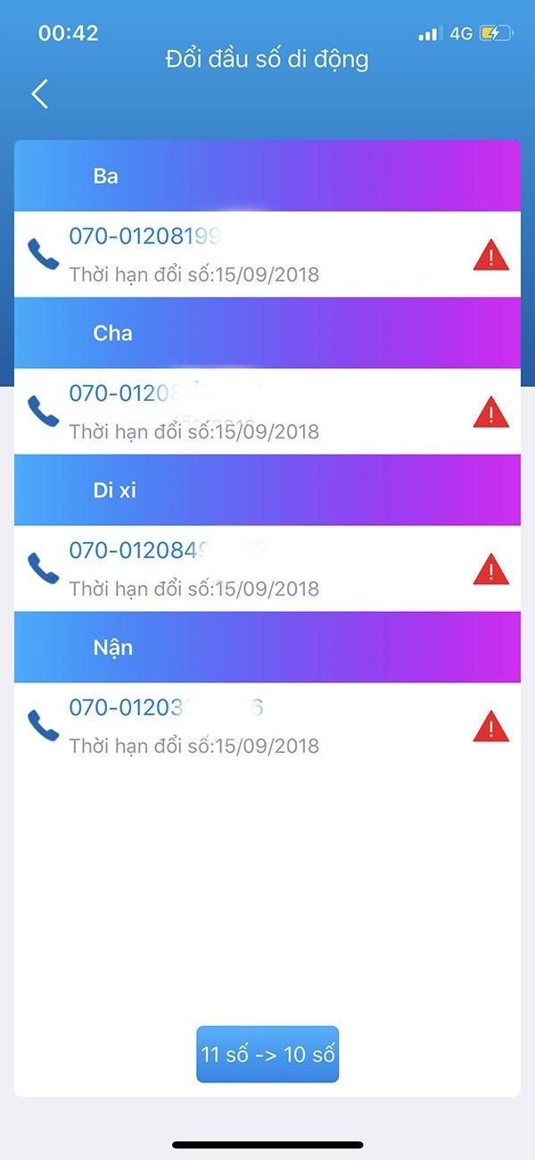 Cách chuyển đổi danh bạ sim 11 số sang sim 10 số Vinaphone tại nhà qua My Vinaphone VNPT