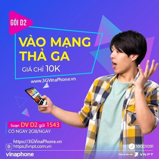 Đăng ký gói cước 4G VinaPhone 1 ngày Gói cước 4G Vina theo ngày dùng 24h