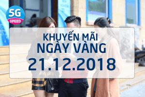 Vinaphone khuyến mãi ngày vàng 21/12/2018 tặng 20% giá trị thẻ nạp