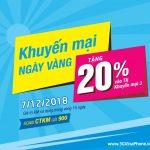 Vinaphone khuyến mãi ngày 7/12/2018 tặng 20% giá trị thẻ nạp Toàn Quốc