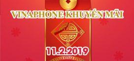 Vinaphone khuyến mãi tặng 20% giá trị thẻ nạp ngày vàng 11/2/2019