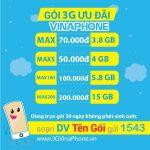 Bảng giá các gói cước 3G Vinaphone giá rẻ khuyến mãi KHỦNG 2019