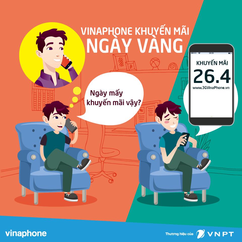 Khuyến mãi Vinaphone ngày vàng 26/4/2019 tặng 20% giá trị thẻ nạp