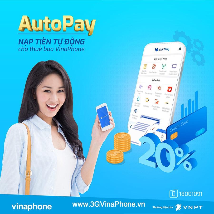 Khuyến mãi Vinaphone ngày vàng 24/5/2019 tặng 20% giá trị thẻ nạp