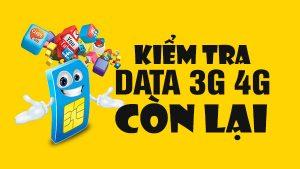 Cách kiểm tra dung lượng 3G Vinaphone tốc độ cao Miễn Phí