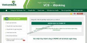 Cách hủy liên kết Momo với ngân hàng Vietcombank, techcombank, agribank, dong a bank