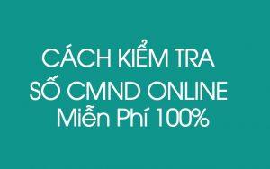 Cách tra cứu số cmnd online Miễn Phí 100% mới nhất 2019