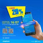 Khuyến mãi Vinaphone thứ 3 vui vẻ tặng 20% giá trị thẻ nạp ngày 16.7.2019
