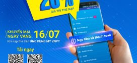 Khuyến mãi Vinaphone thứ 3 vui vẻ tặng 20% giá trị thẻ nạp ngày 16.7.2019 qua app My VNPT