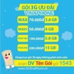 Cách Đăng Ký 3G VinaPhone mới nhất 2019 1 tháng, 1 năm Miễn Phí SMS