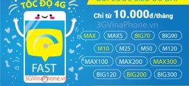 Đăng ký gói cước 3G Vinaphone cho thuê bao trả sau mới nhất 2020