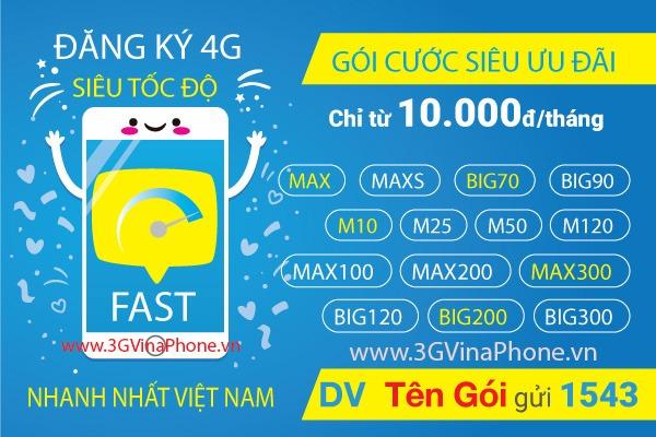 Làm sao đăng ký 4G Vinaphone 1 tháng, 6 tháng, 12 tháng mới 2019