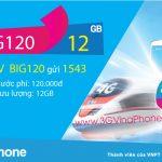Cách đăng ký gói BIG120 VinaPhone nhận 12GB data chỉ 120.000đ