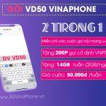 Cách đăng ký gói VD50 Vinaphone nhận 14GB data + gọi không giới hạn trong 7 ngày