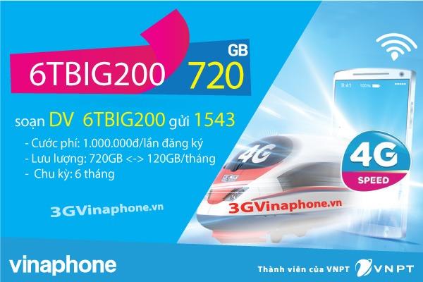 Đăng ký gói cước 6TBIG200 Vinaphone nhận 132GB data dùng 6 tháng - 3GVinaPhone.vn