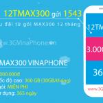 Đăng ký gói cước 12TMAX300 Vinaphone