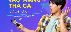 Đăng ký gói cước 3G Vinaphone 1 ngày giá rẻ từ 2k 3k 5k 10k dùng 24h