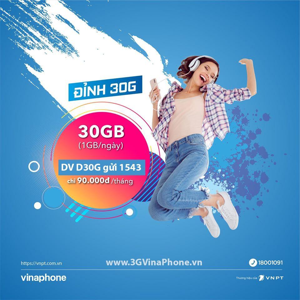 Đăng ký gói cước D30G Vinaphone