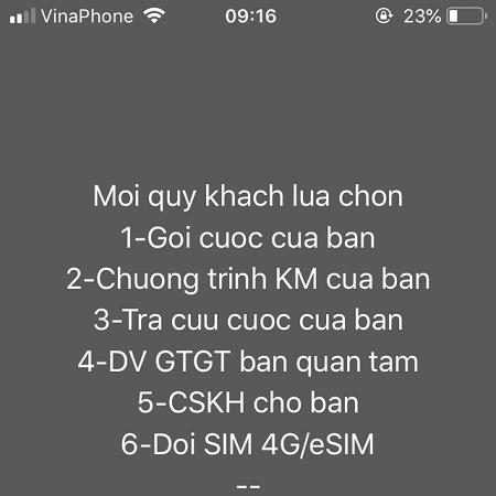 Cách đổi sim thường sang Esim VinaPhone trên điện thoại