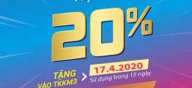Vinaphone khuyến mãi ngày vàng 17/4/2020 tặng 20% giá trị thẻ nạp