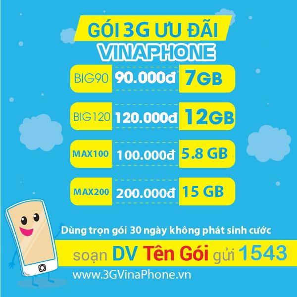 Cách đăng ký mạng 3G Vinaphone 1 tháng, năm chu kỳ dài mới nhất 2020