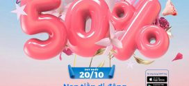 Vinaphone khuyến mãi 20/10/2020 tặng 50% giá trị thẻ nạp qua ví VNPT Pay