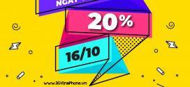 Khuyến mãi Vinaphone Ngày Vàng 16/10/2020 tặng 20% giá trị thẻ nạp