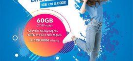 Đăng ký gói 6T60G Vinaphone (gói Đỉnh 60G 6 tháng) nhận 180Gb data chỉ 300.000đ