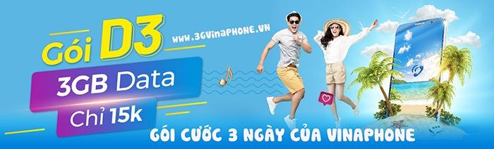 Đăng ký gói cước 3G/4G/5G Vinaphone 3 ngày