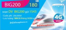 Đăng ký gói BIG200 Vinaphone miễn phí 180GB DATA chỉ 200.000đ/tháng