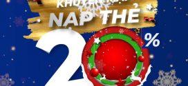 Khuyến mãi Vinaphone tặng 20% giá trị thẻ nạp ngày vàng 31/12/2020