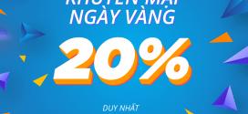 Vinaphone khuyến mãi tặng 20% giá trị thẻ nạp ngày 4/12/2020 mệnh giá từ 50.000đ