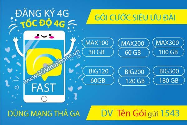 Bảng giá các gói cước 4G Vinaphone Giá Rẻ Nhất khuyến mãi Khủng 2021