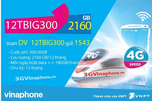 Đăng ký gói BIG300 Vinaphone chu kỳ dài 6 tháng, 12 tháng  - 3GVinaPhone.vn