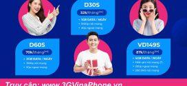 Đăng ký gói D30S Vinaphone nhận 30GB data và 1500 phút gọi + 30 phút ngoại mạng