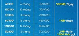Đăng ký gói Đỉnh D60G VinaPhone chu kỳ 6 tháng tiết kiệm 120.000đ nhận data khủng