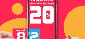 Vinaphone khuyến mãi ngày vàng 8/2/2021 tặng 20% giá trị thẻ nạp