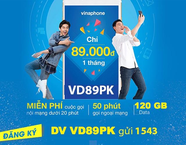 Đăng ký gói VD89PK vinaphone