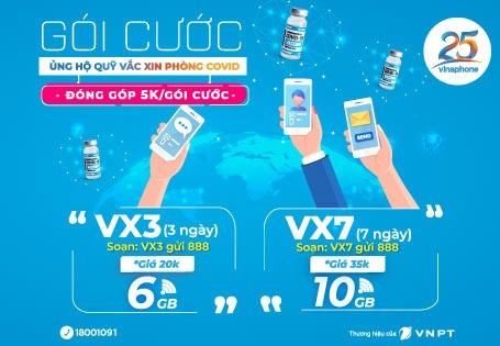 Đăng ký gói VX3 Vinaphone nhận 6GB data chỉ 10.000đ 3 ngày sử dụng